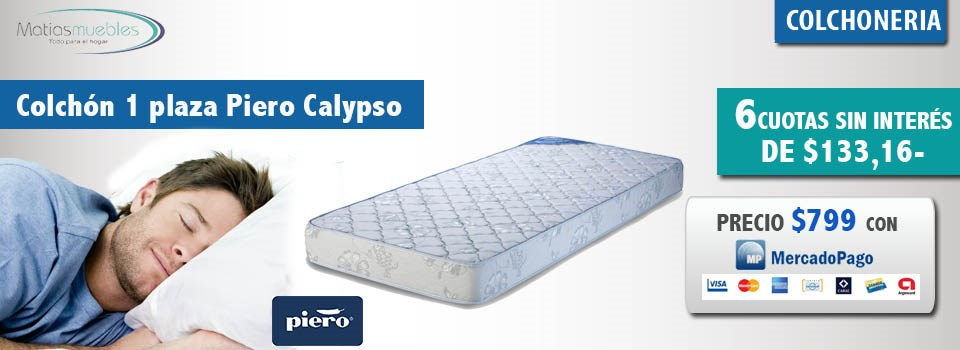 Colchon 1 plaza Piero Calypso