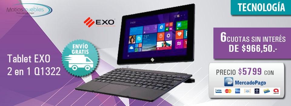 Tablet Exo 2 en 1 Q1322